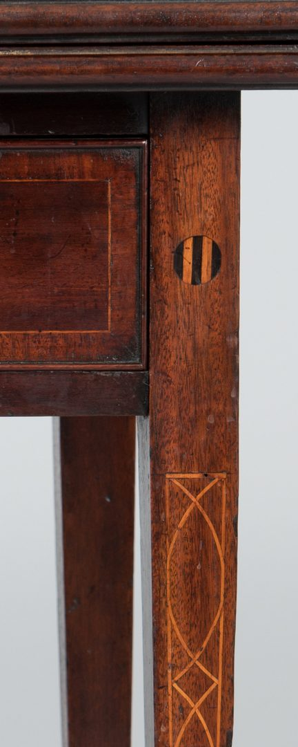 Lot 492: Card Table with Pitch Inlay