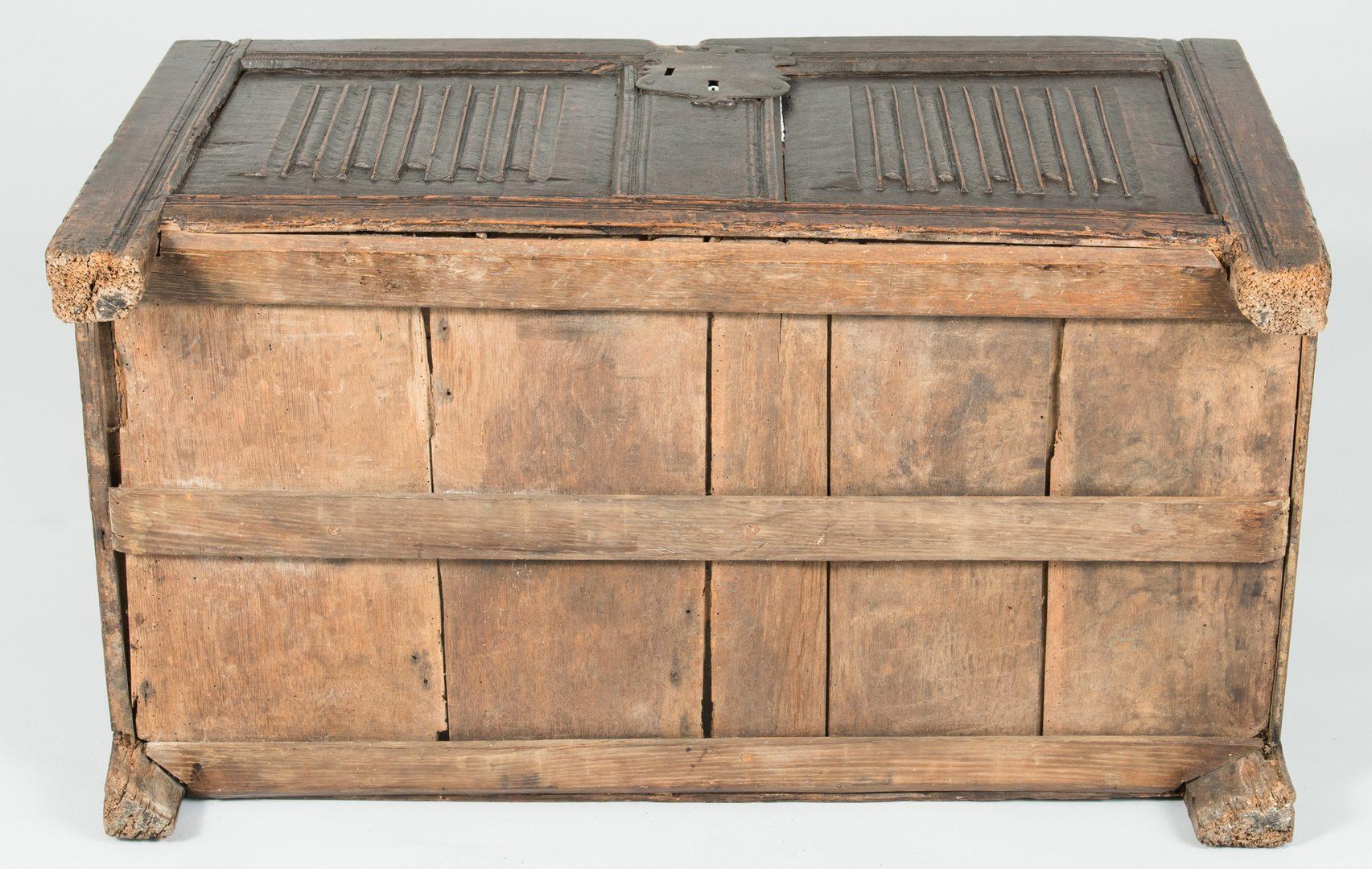 Lot 495: Tudor 16th c. Linenfold Coffer