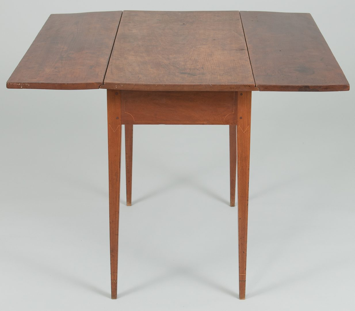Lot 498: Southern Cherry Inlaid Pembroke Table