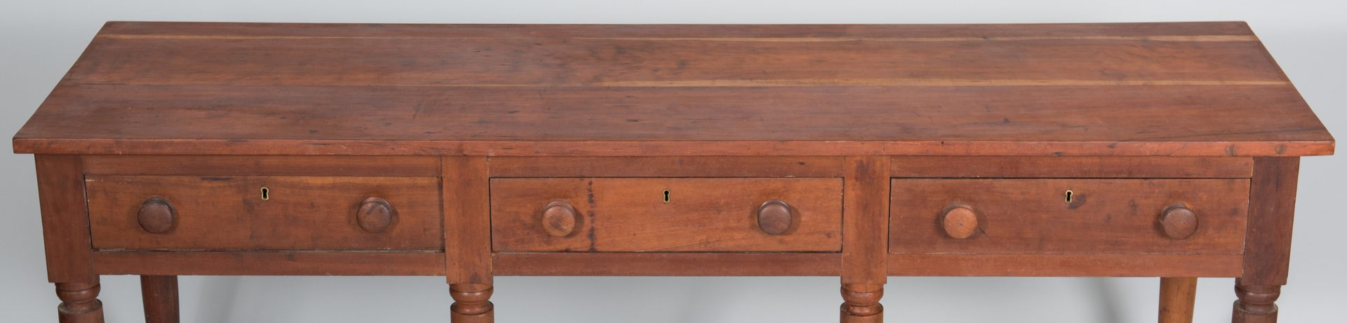 Lot 500: Middle TN Cherry 3-Drawer Table