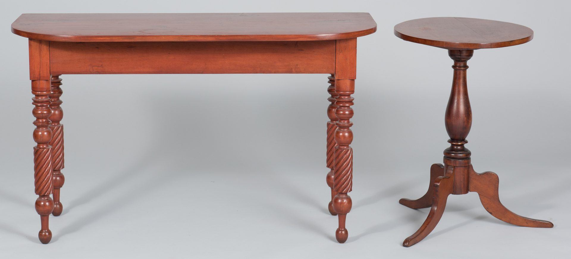 Lot 503: W. TN Demilune Table and Stand
