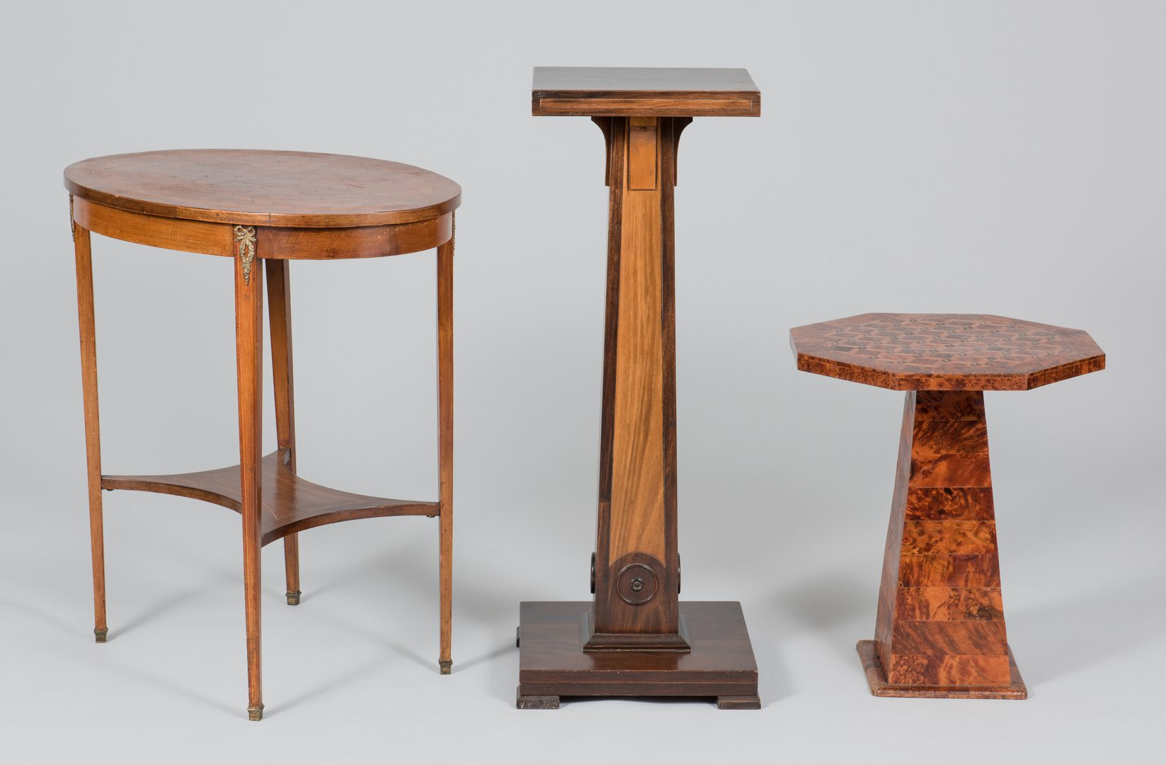 Lot 504: Three Decorative Tables / Stands