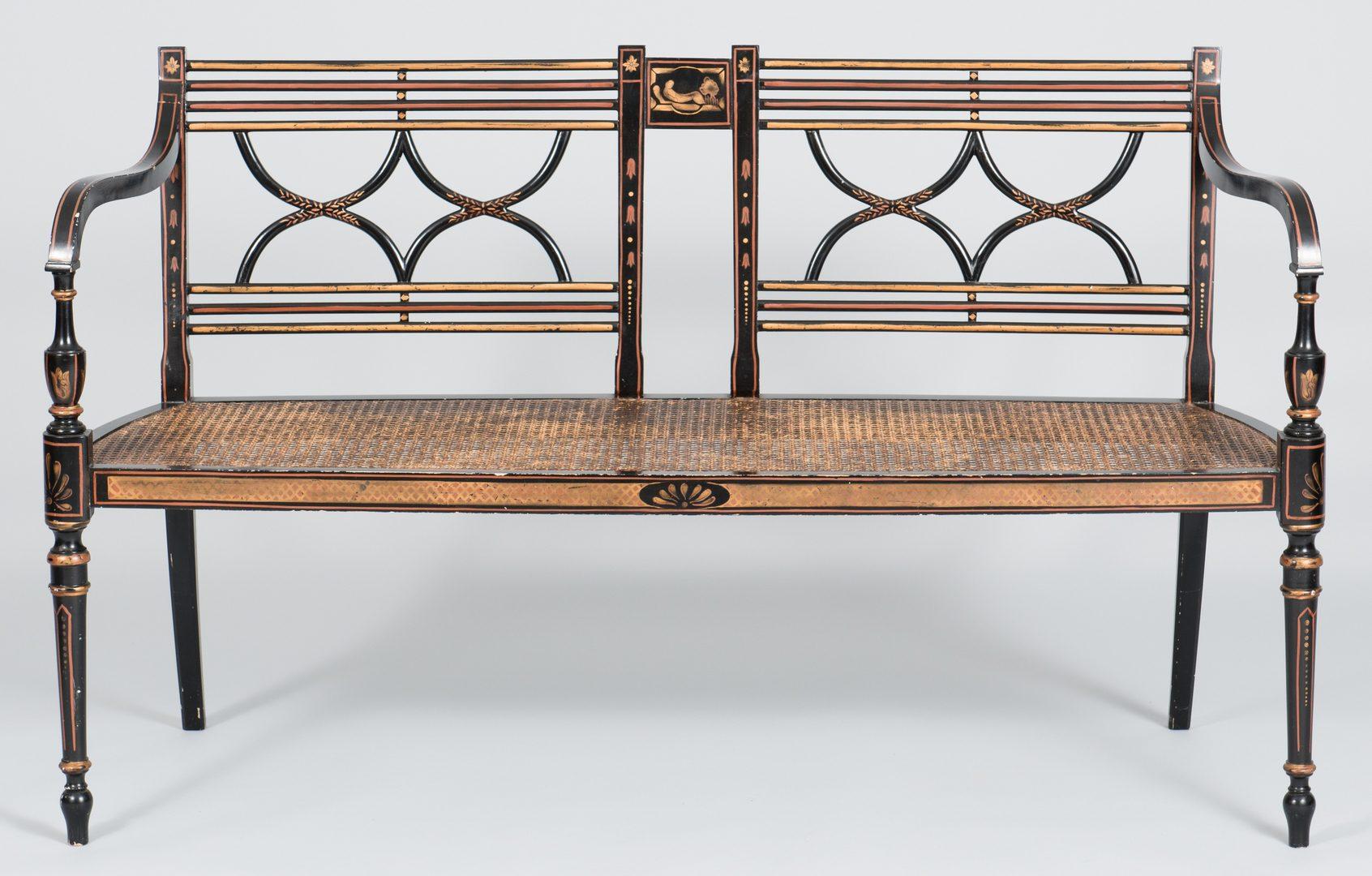 Lot 505: Regency Style Settee & Chair