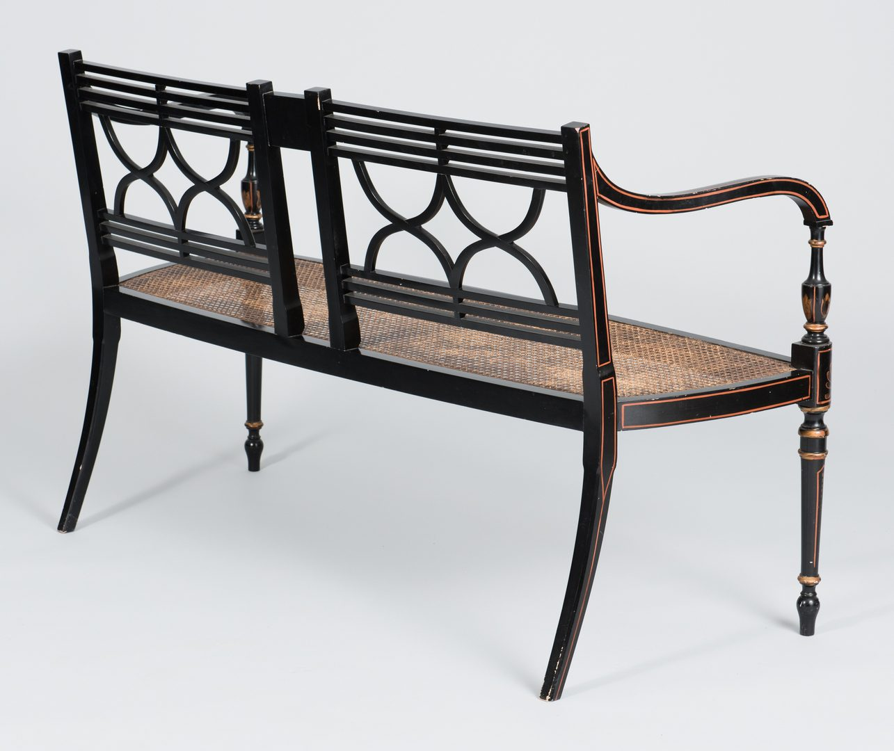 Lot 505: Regency Style Settee & Chair