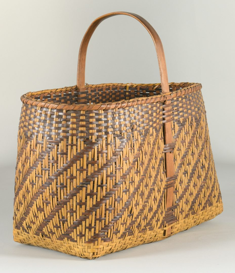 Lot 507: Large Cherokee Rivercane Carrying Basket