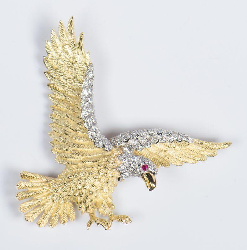 Lot 50: Rosenthal American Eagle Brooch