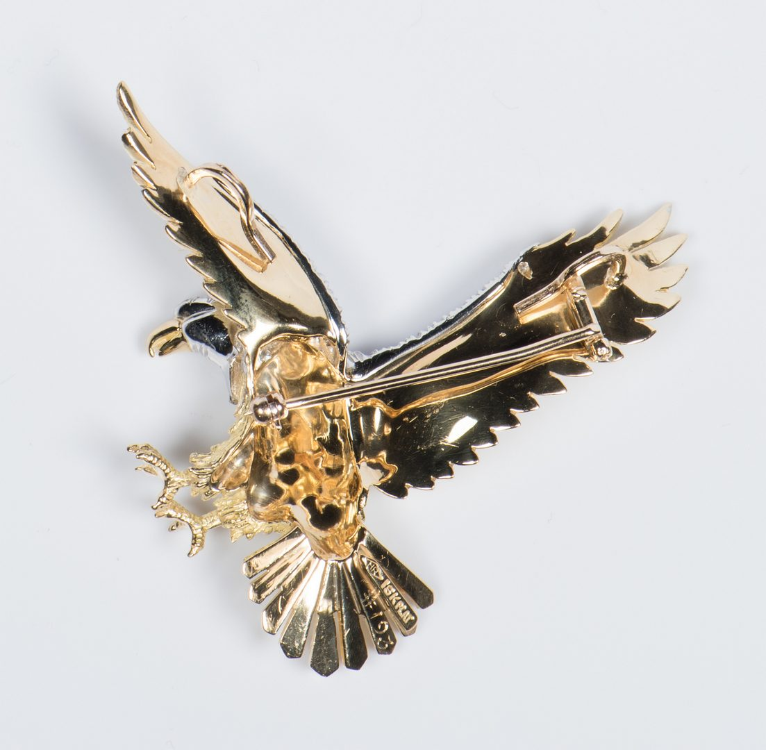 Lot 50: Rosenthal American Eagle Brooch