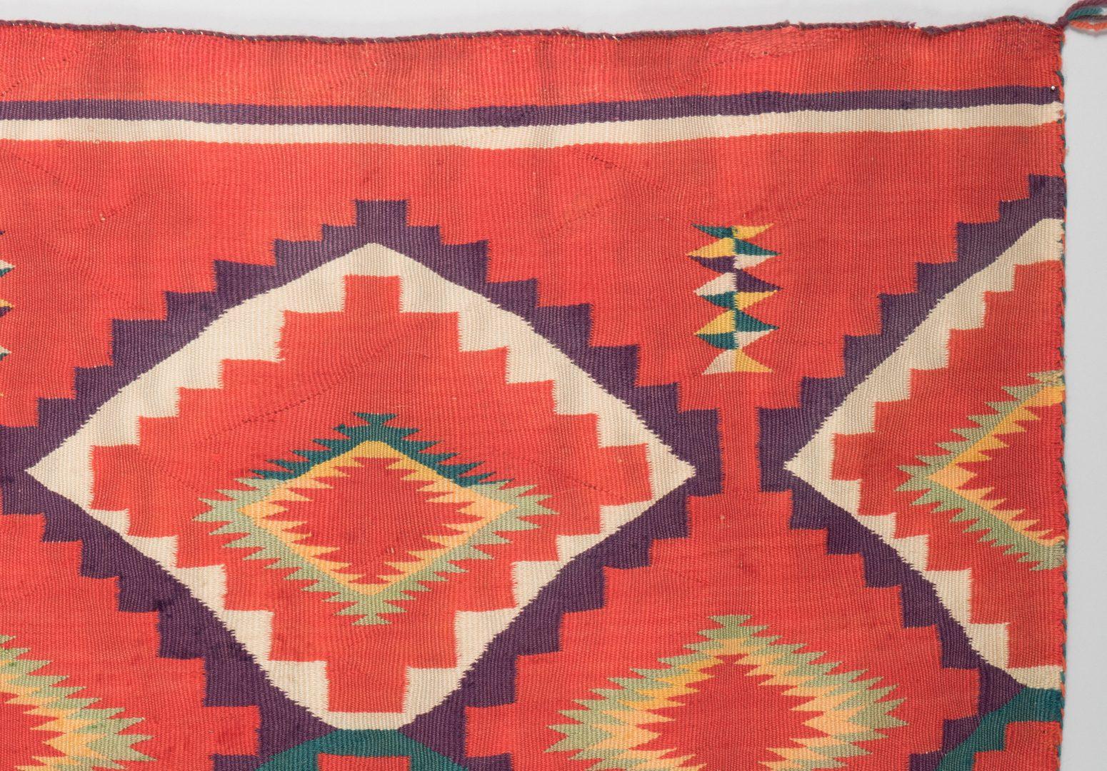Lot 518: Crystal Navajo Rug, poss, J. B. Moore