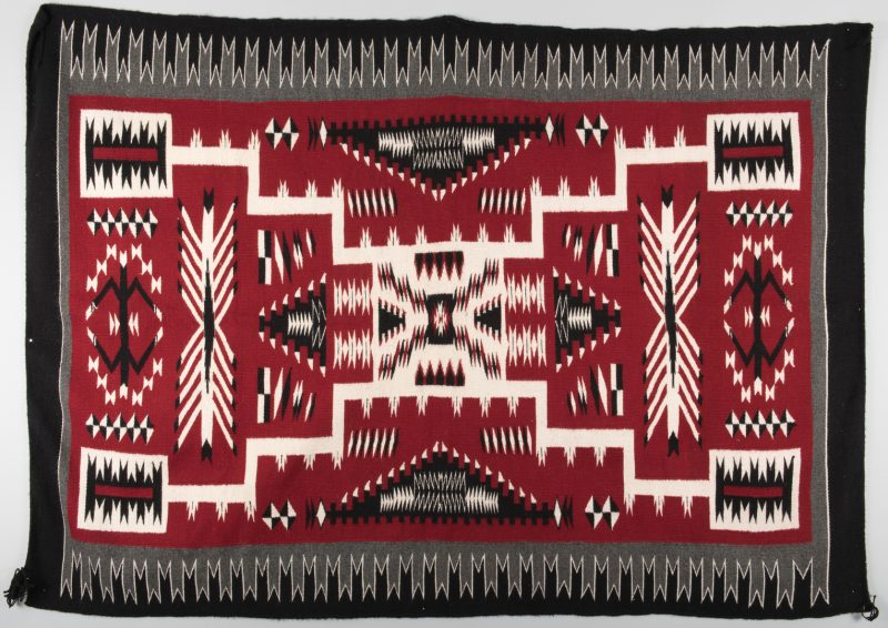Lot 519: Navajo Crystal Storm Pattern Rug