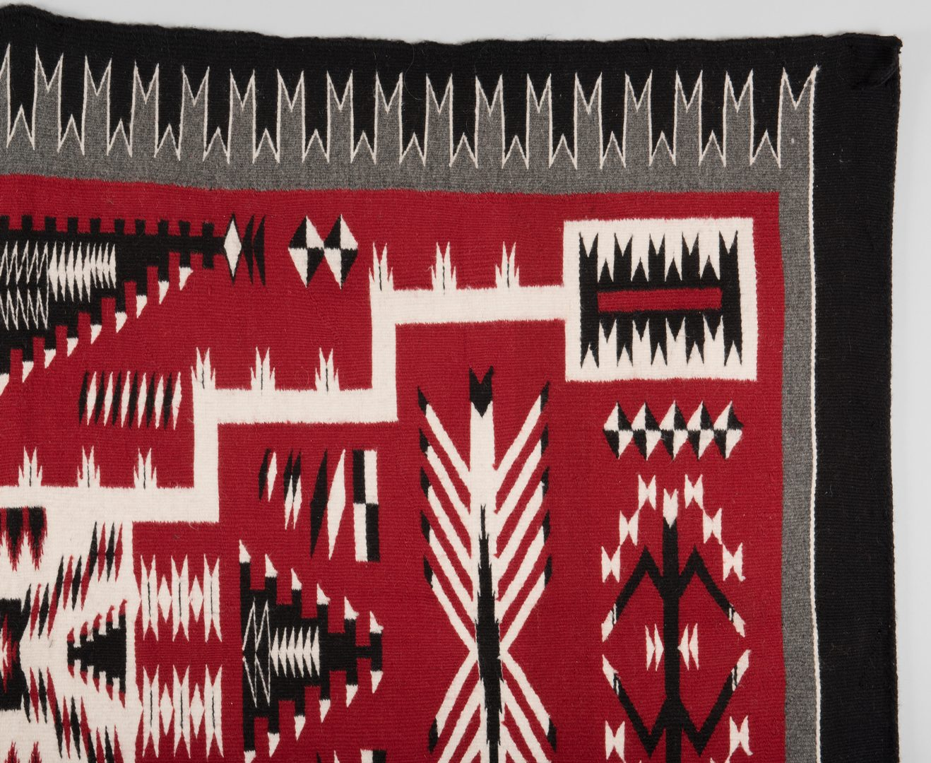 Lot 519: Navajo Crystal Storm Pattern Rug