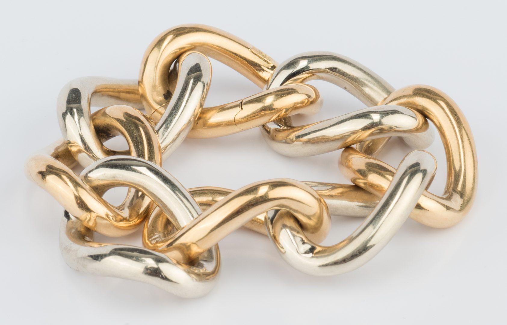Lot 51: 18K Bi-color Link Bracelet, 98.6 g