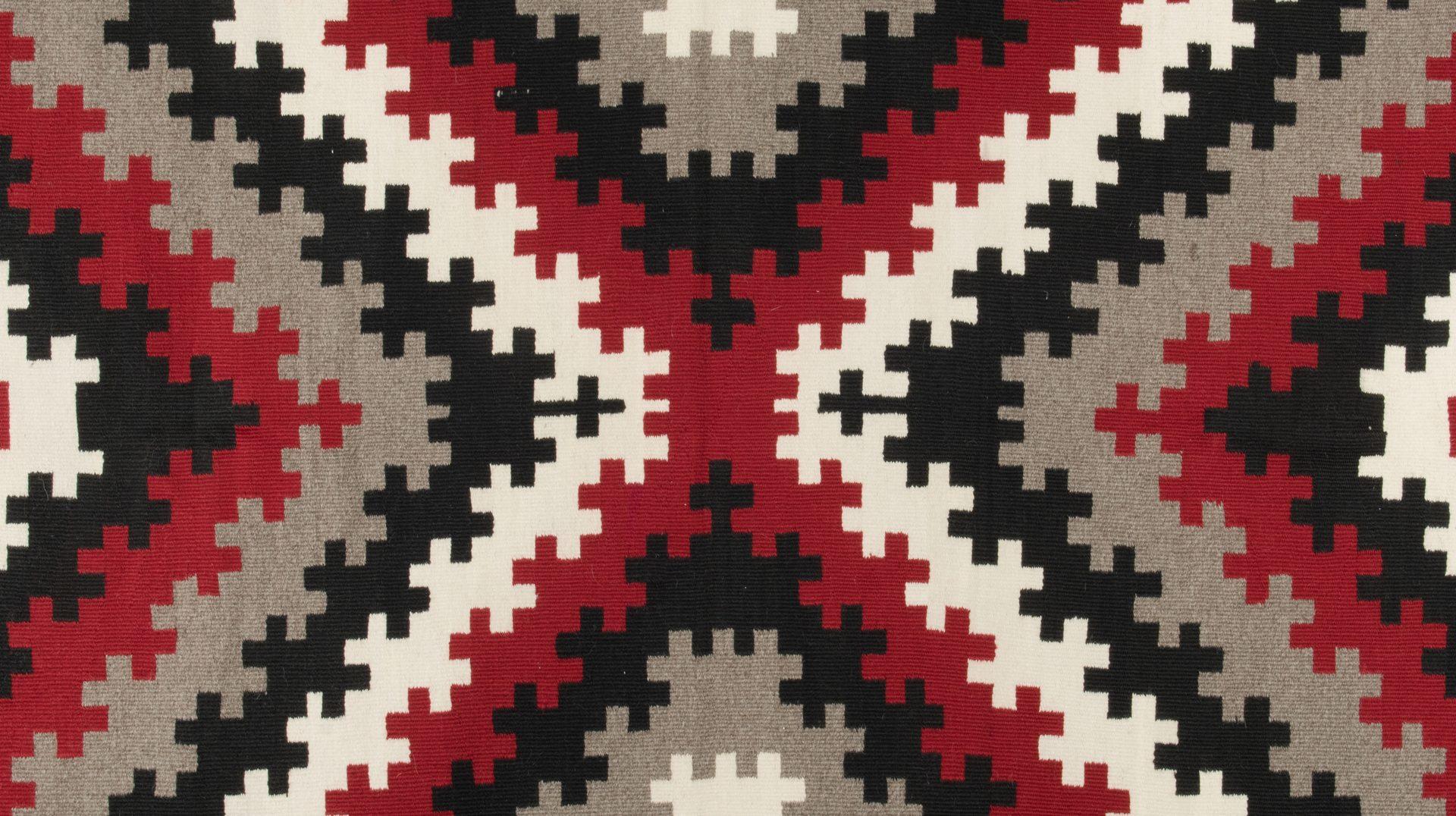 Lot 520: Navajo Rug, Storm Pattern Variant