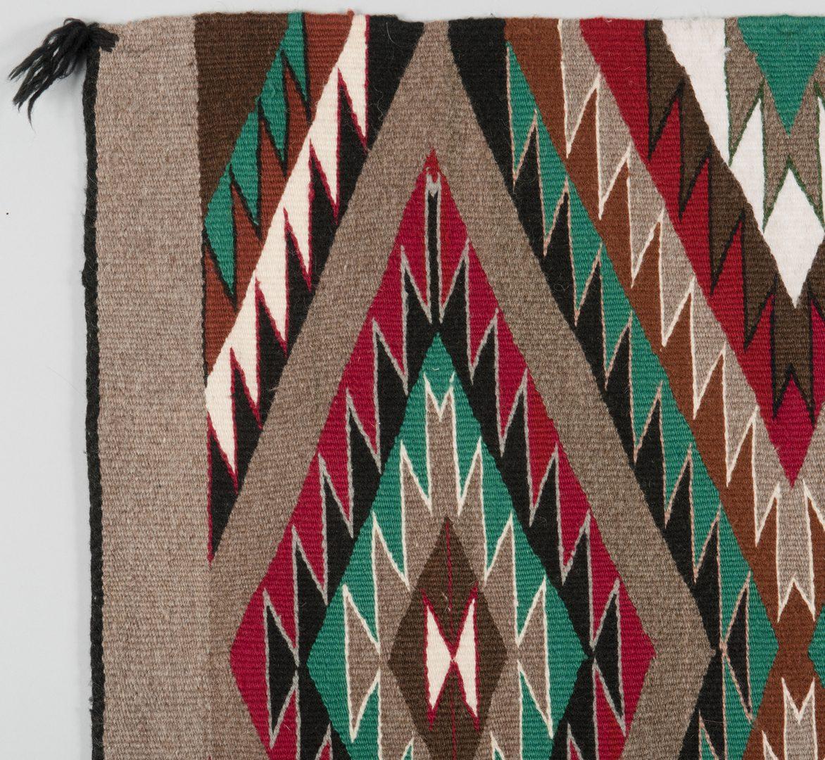 Lot 521: 2 Navajo Rugs, Ganado & Eyedazzler