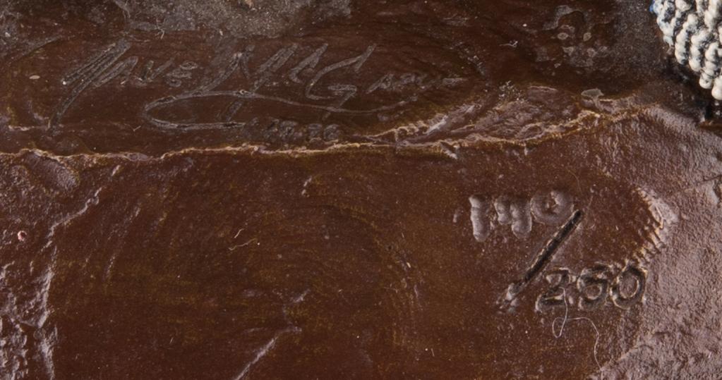 """Lot 523: Dave McGary Bronze  Sculpture """"Lakota Hoofprints"""""""