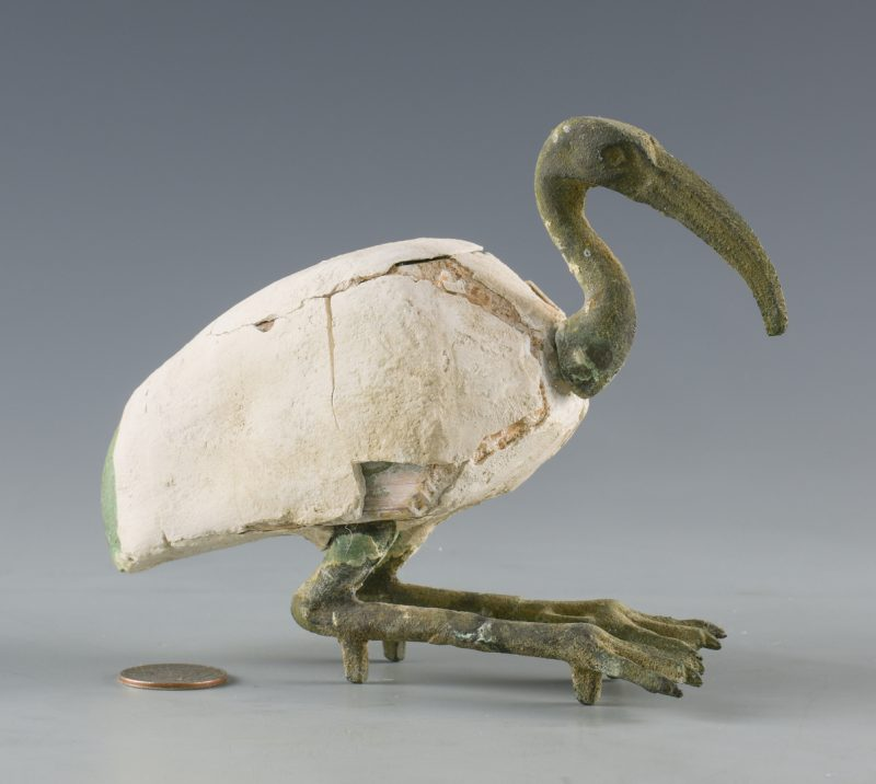 Lot 526: Egyptian Bronze Ibis Sculpture