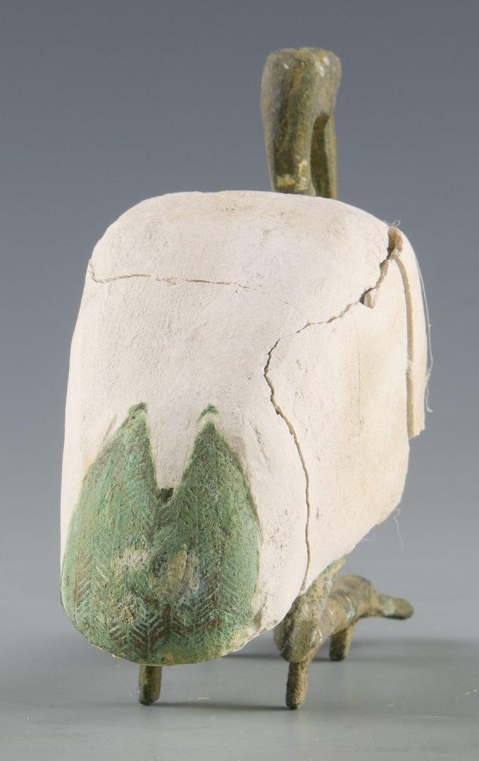 Lot 526: Egyptian Bronze Ibis Sculpture