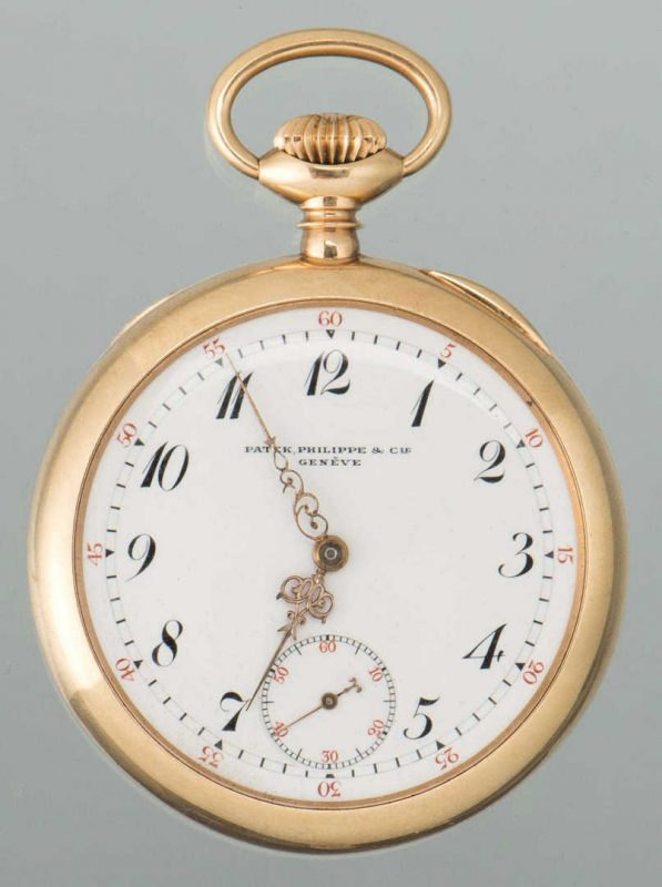 Lot 52: 14K Patek Philippe Pocket Watch