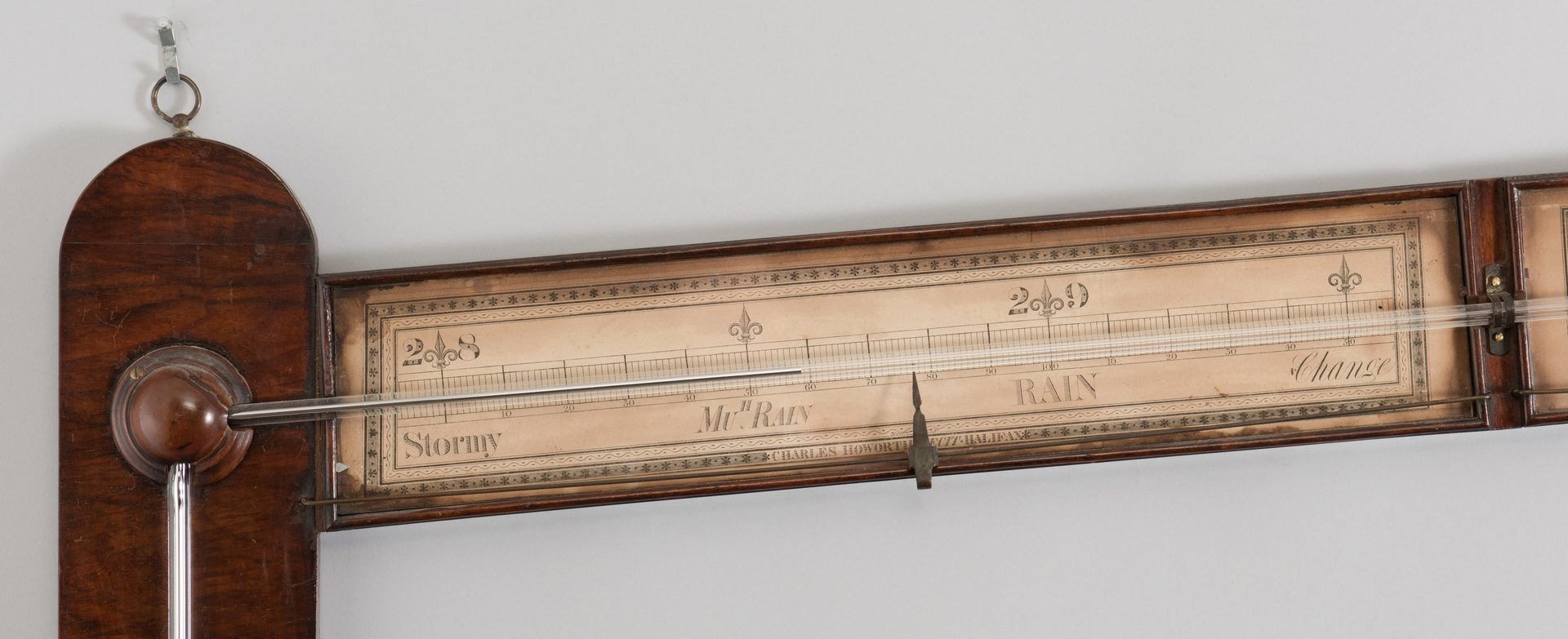 Lot 531: English Haworth Angle Barometer