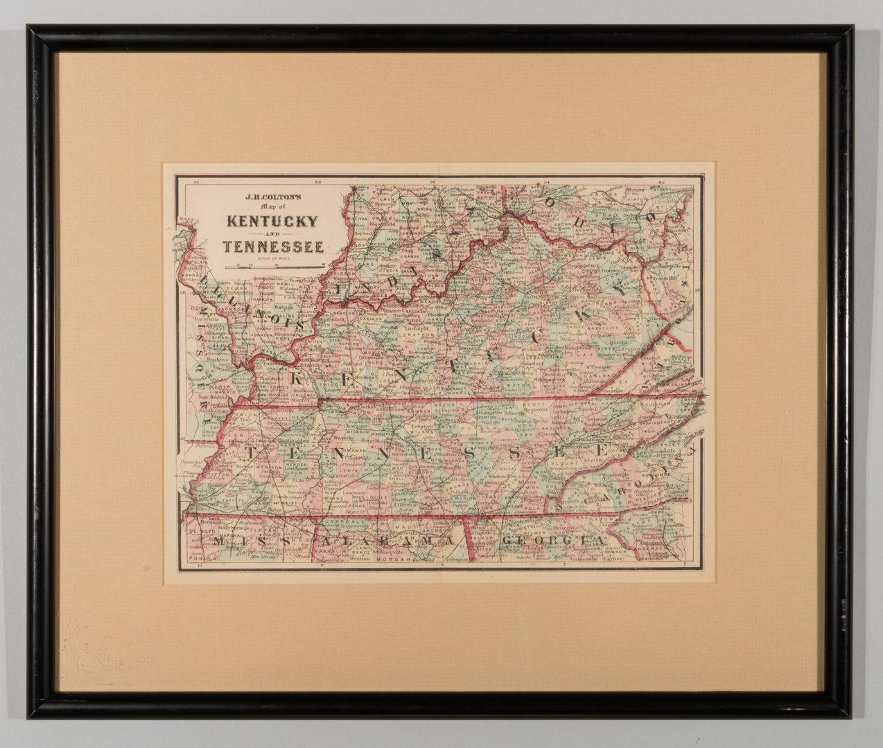 Lot 535: 4 TN & KY Maps, 3 Framed