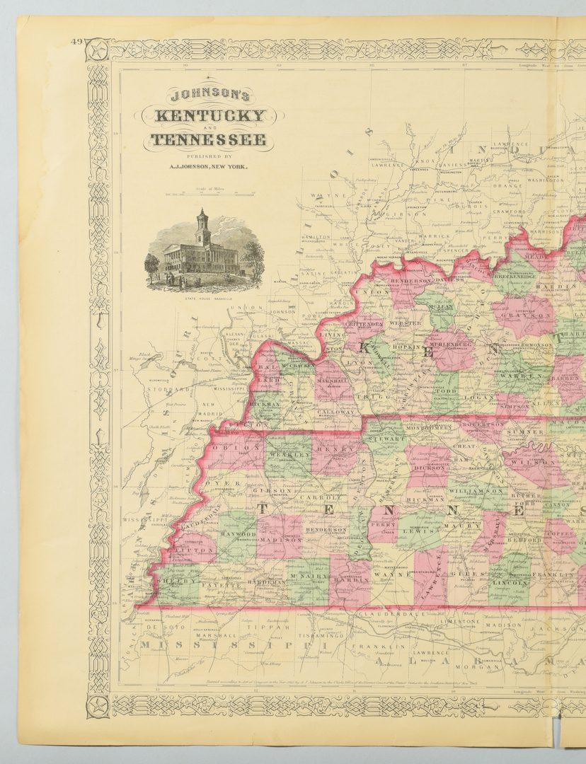 Lot 536: 3 KY & TN Maps: Vance, Tanner, Johnson