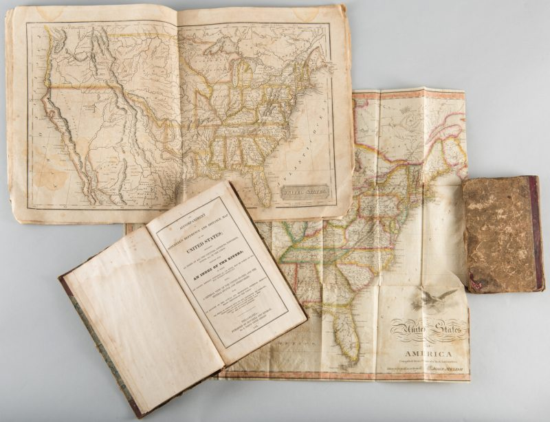 Lot 539: Map and Atlas Lot, 3 pcs incl. Melish Directory