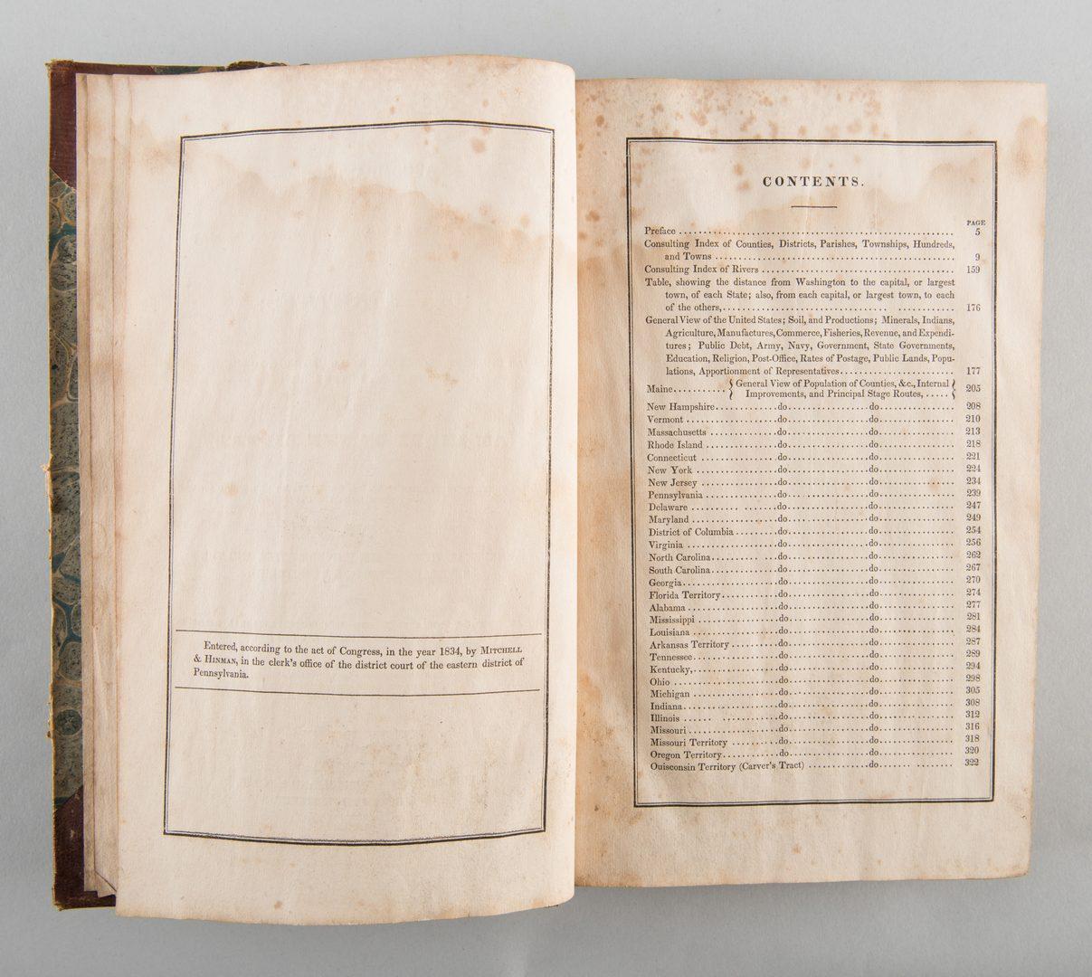 Lot 539: Map and Atlas Lot, 3 pcs incl. Melish Directory