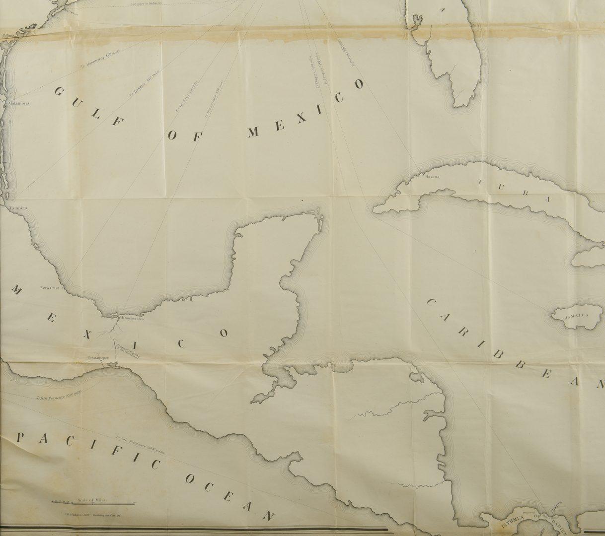 Lot 540: Skeleton Map Showing Railroads, United States GPO, 1849