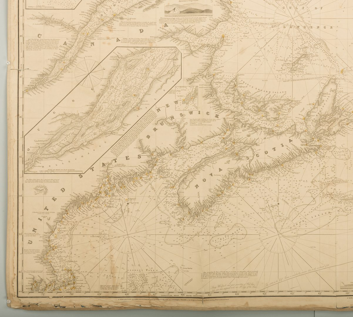 Lot 541: Nautical Chart: N. America inc. Boston, Nova Scotia