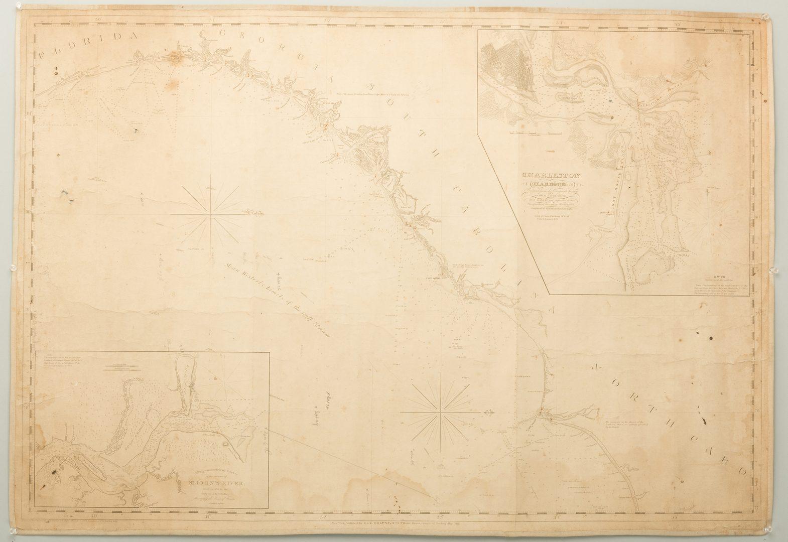 Lot 542: 3 Nautical Maps inc. Southern 1861