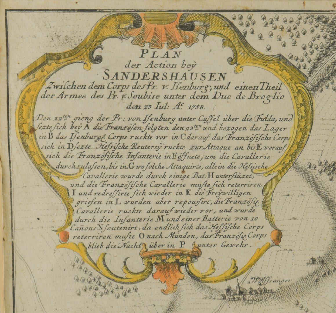Lot 544: 2 18th C. European Maps, Bowen & Buchhandlung