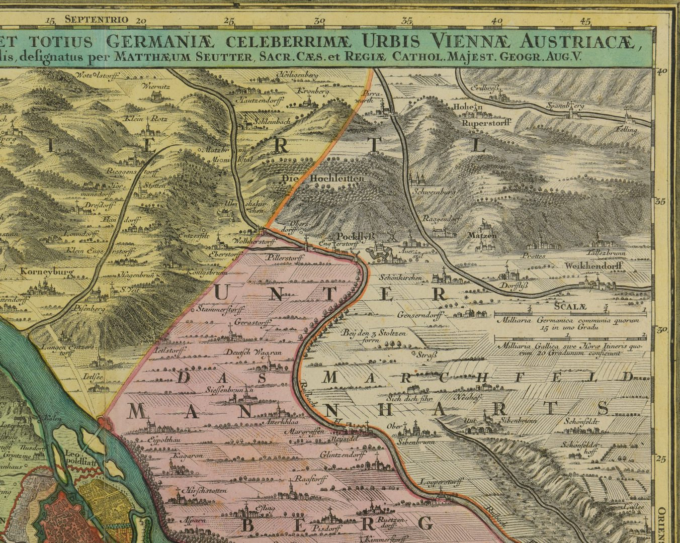 Lot 545: Tobias Conrad Lotter Map of Germany, Vienna, 1760