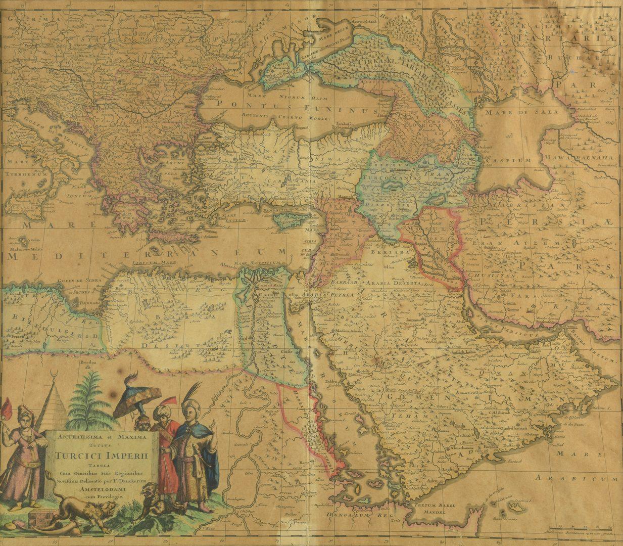 Lot 547: Turkish Empire Map, Justus Danckerts 1685