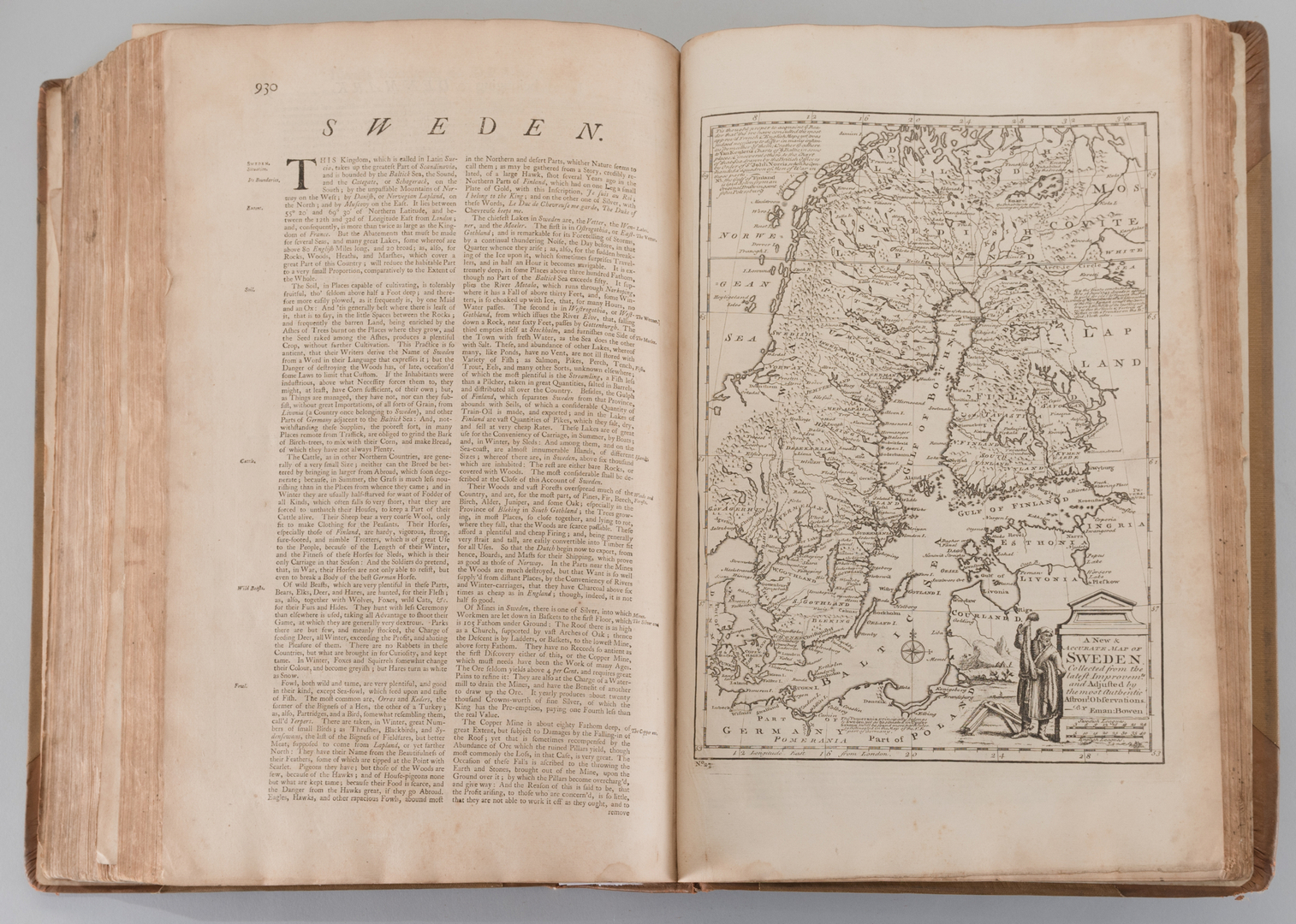 Lot 548 A Complete System Of Geography Vol I Bowen 1747