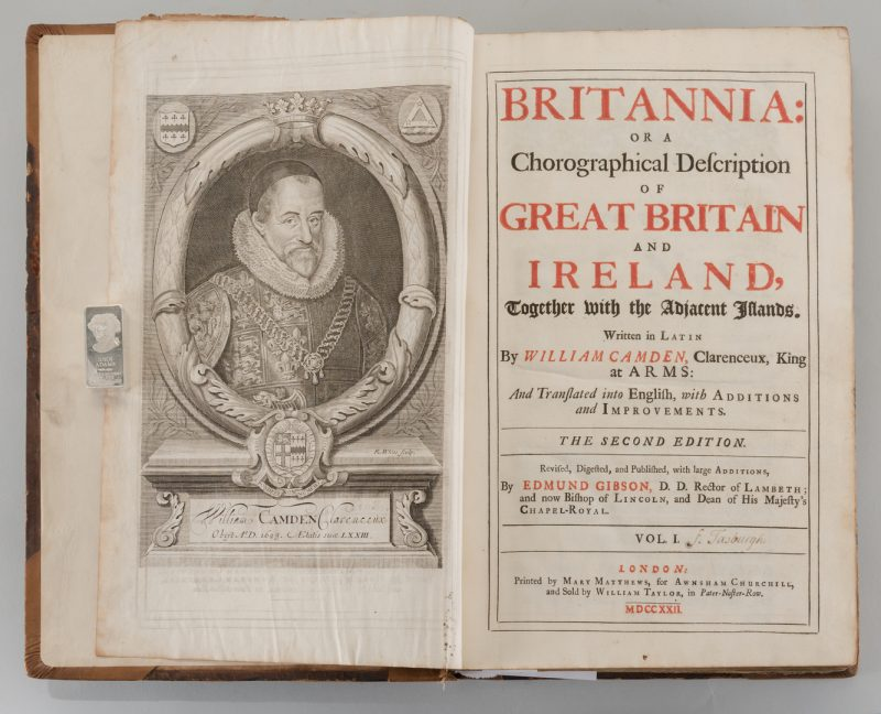 Lot 549: Britannia, Vol. I & II Camden 1722