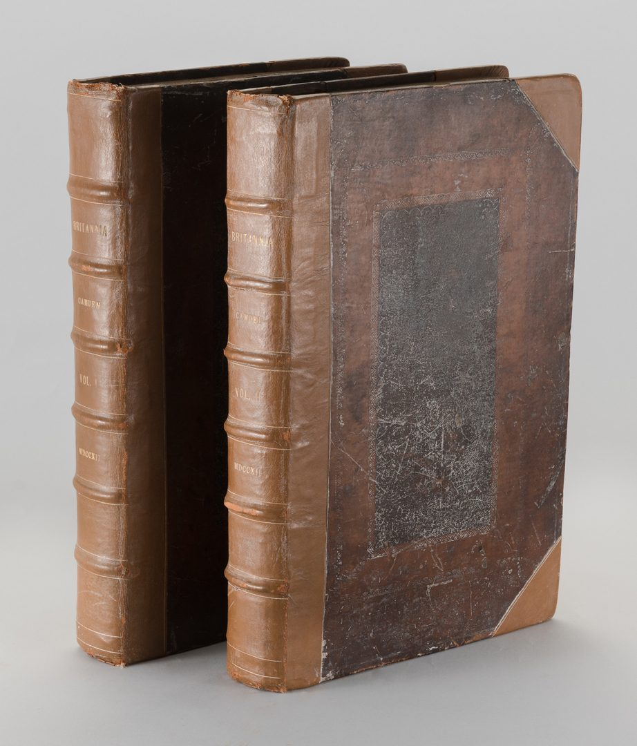 Lot 549: Britannia, Vol. I & II Camden 1722