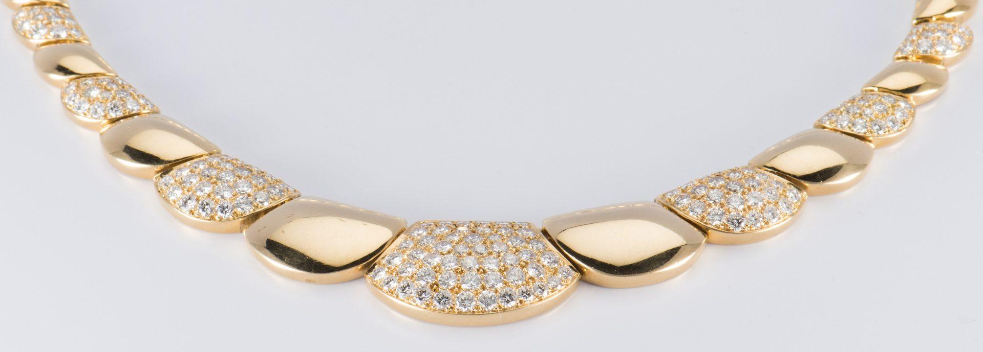 "Lot 54: 18K Diamond Disc Necklace, 17"" L"