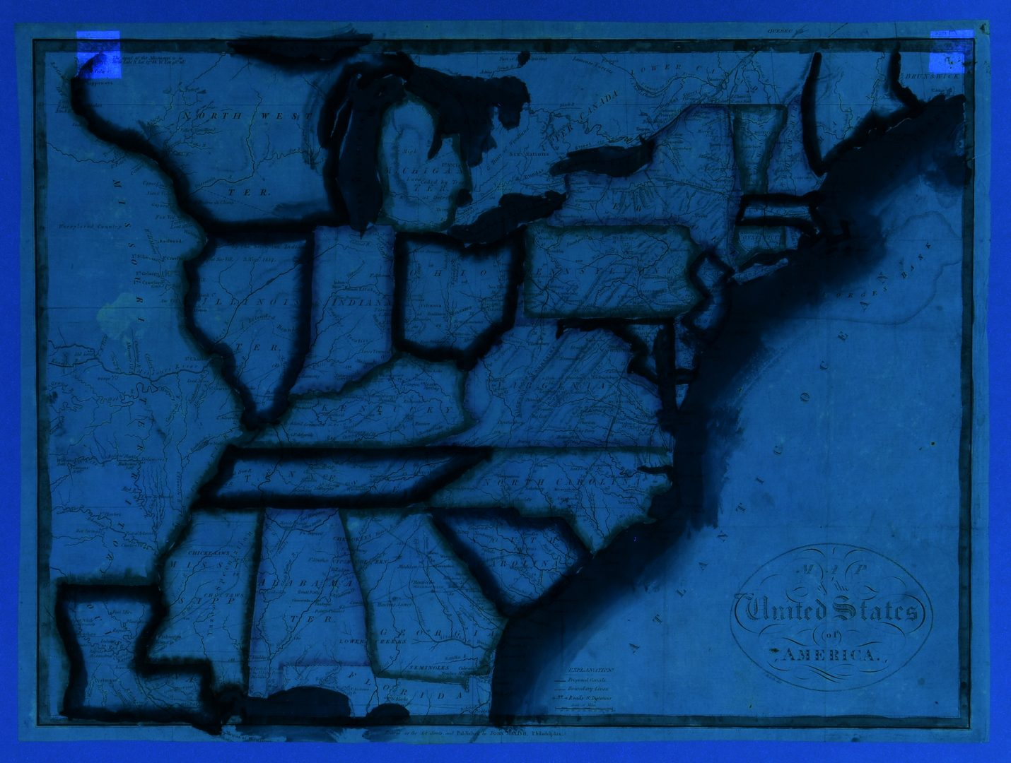 Lot 551: John Melish 1815 United States of America Map