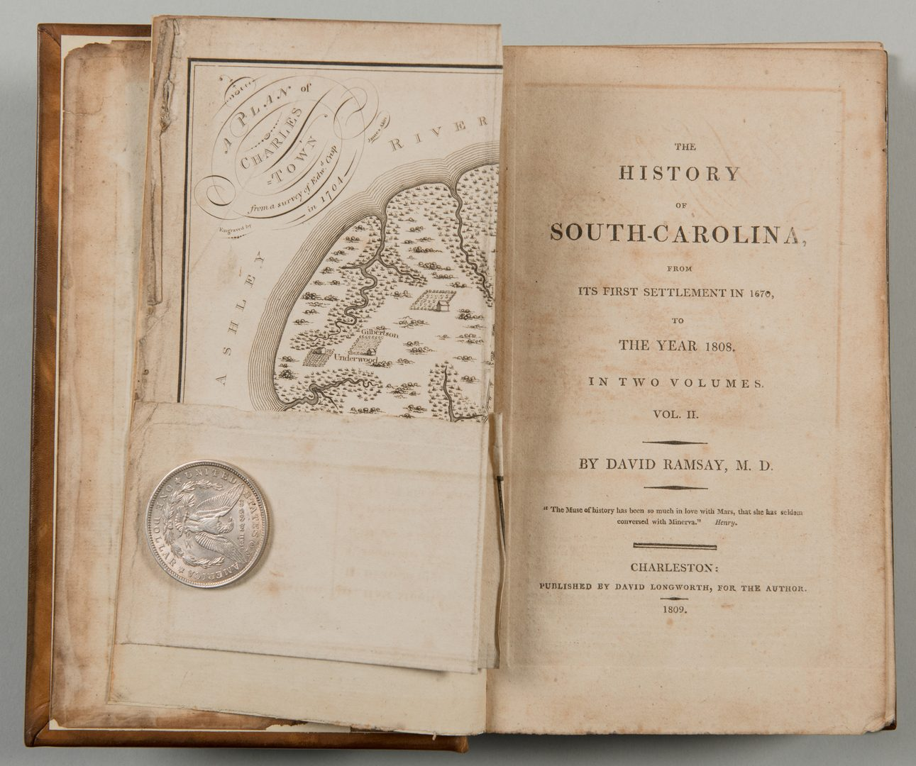 Lot 552: Ramsay History South Carolina 2 vols both maps
