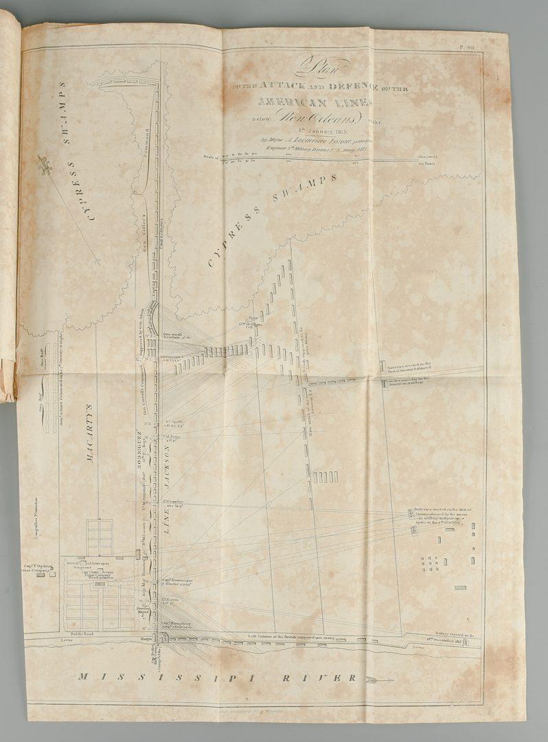 Lot 553: Latour War in West Florida LA 1814-1815, w/ Atlas