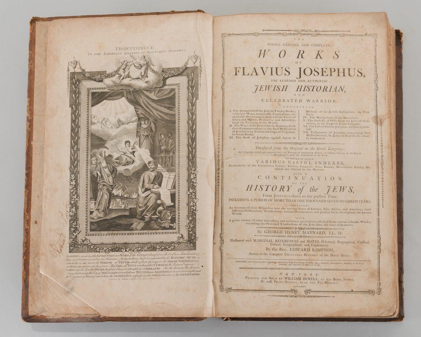Lot 557: Works of Flavius Josephus, Maynard 1794