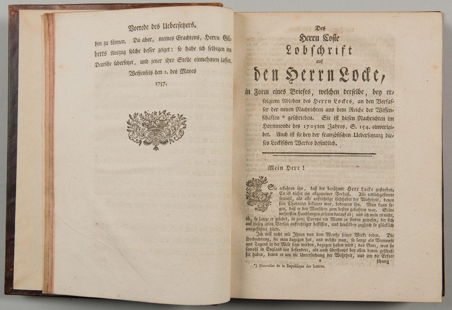 Lot 558: Versuch vom menschlichen Verstande 1757