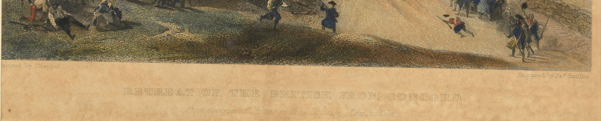 Lot 559: 4 19th Century Engravings, incl. Rev. War Related