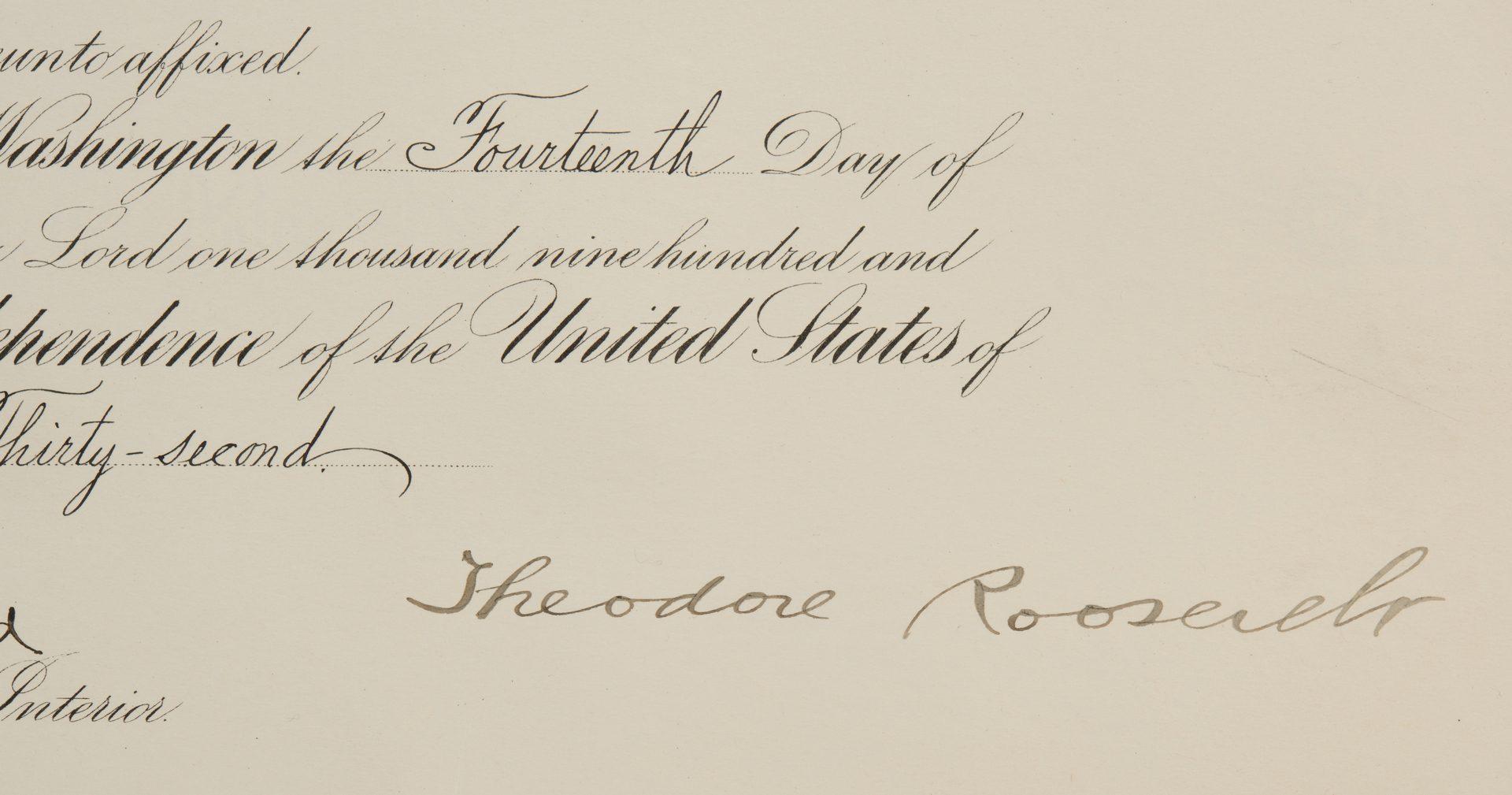 Lot 563: Theo. Roosevelt signed document, prints – 3 pcs