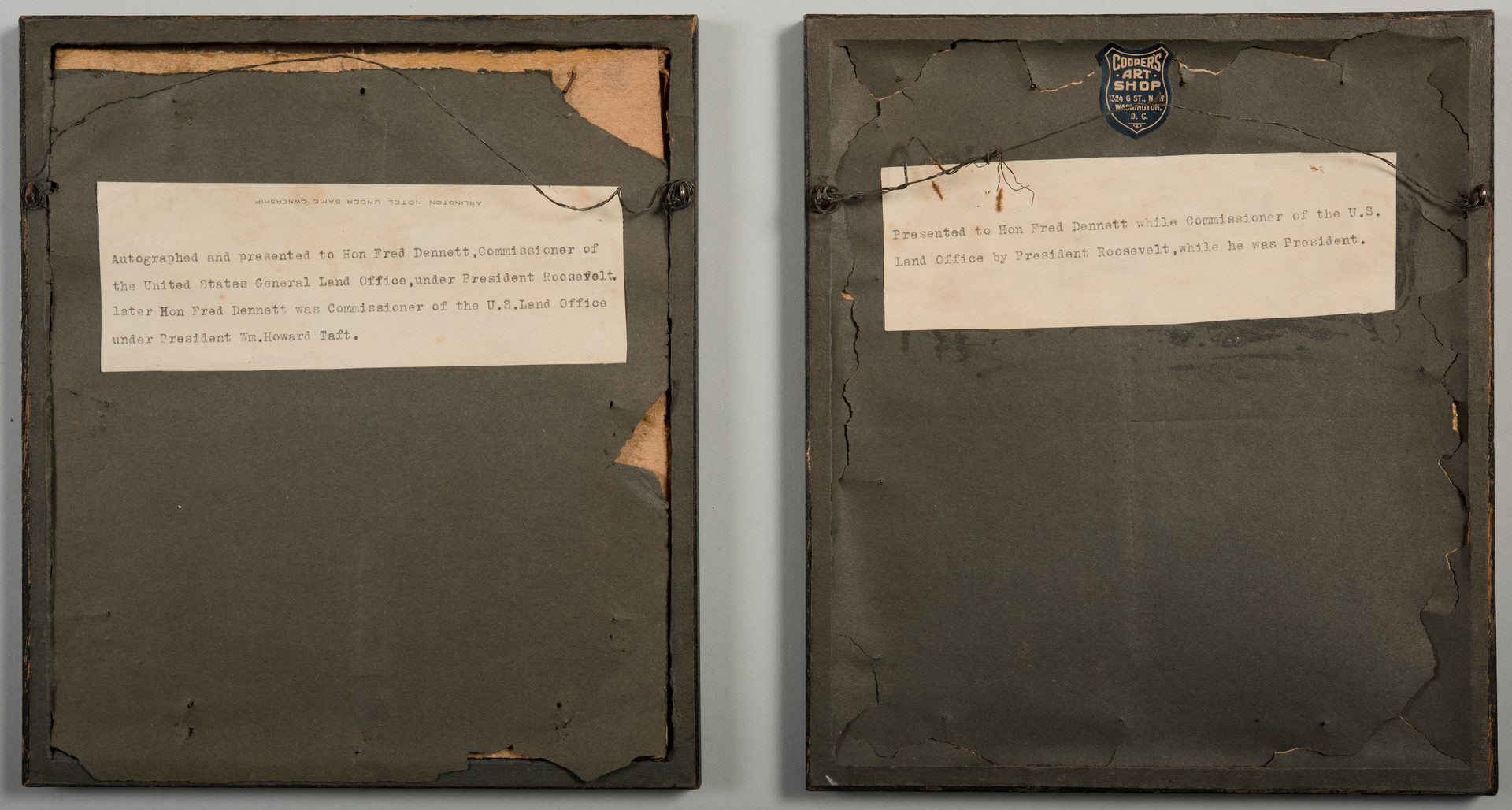 Lot 563: Theo. Roosevelt signed document, prints – 3 pcs