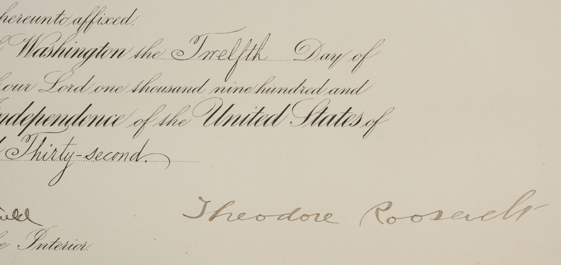 Lot 564: 2 Theodore Roosevelt Signed Appointment Documents