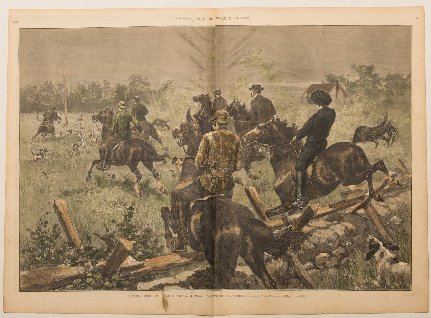 Lot 569: Group 19th c. Nashville Related Illustrations