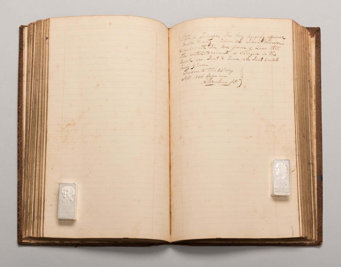 Lot 570: TN Iron Industry Potters Ledger and other TN Ephemera