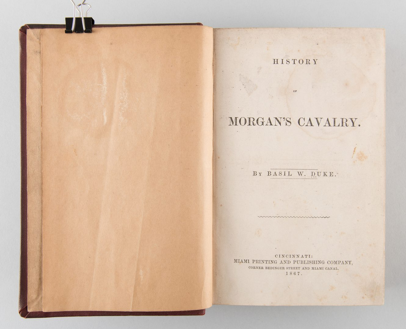 Lot 576: Basil Duke: History of Morgan's Cavalry