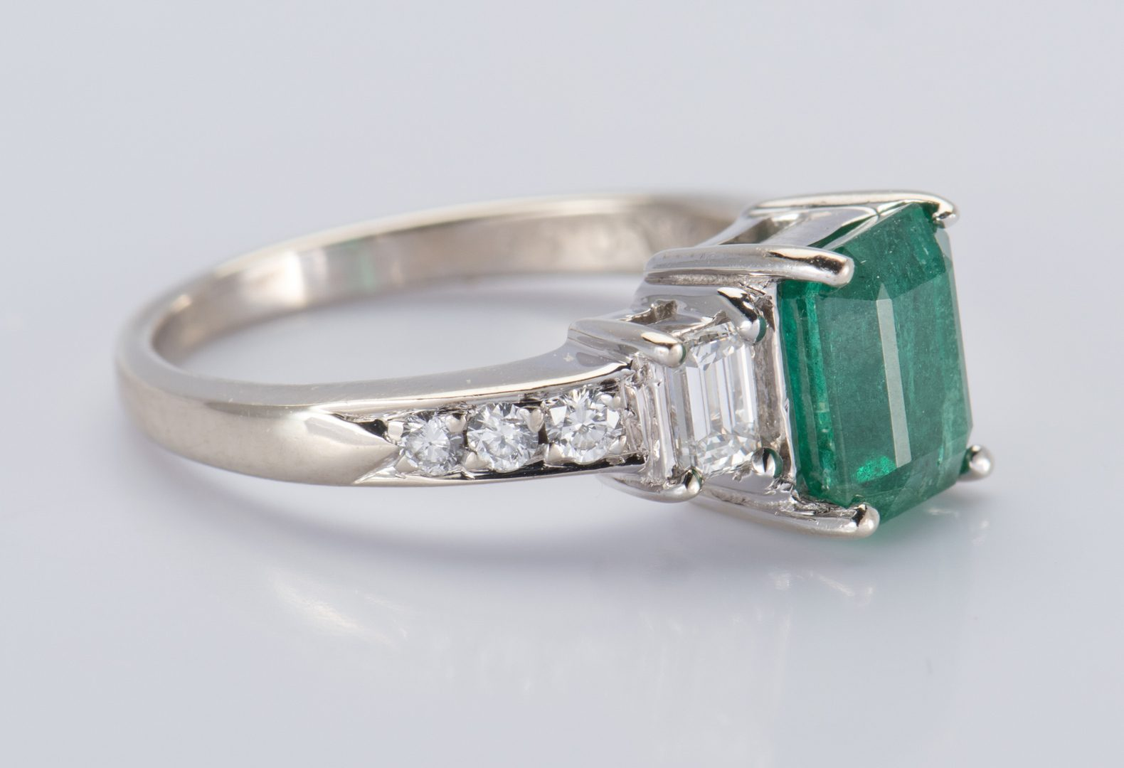 Lot 57: 14K Emerald and Diamond Ring
