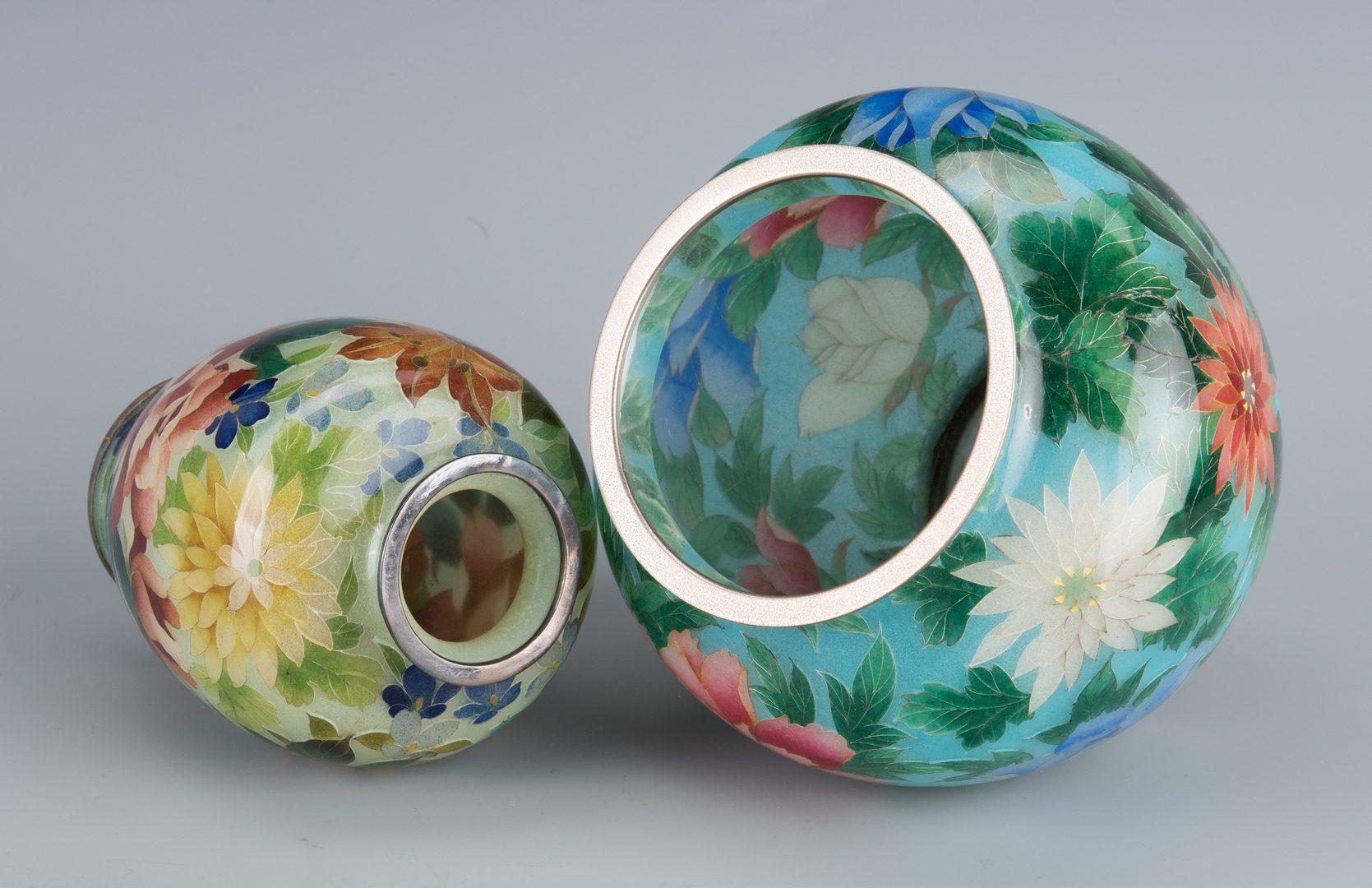 Lot 580: Plique a Jour & Cloisonne Items
